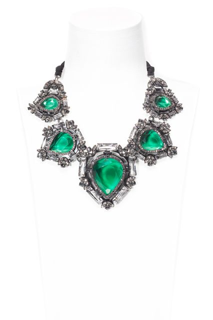 Lanvin's autumn/winter 2012-13 oversized gems and stones, giving a regal feel to the smoked plexi glass necklaces,earrings, bracelets and belts all inspired by Hutton's own impressive collection.