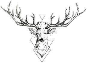 noir d sir dessin pinterest tatouage cerf tatouage et dessin tatouage. Black Bedroom Furniture Sets. Home Design Ideas
