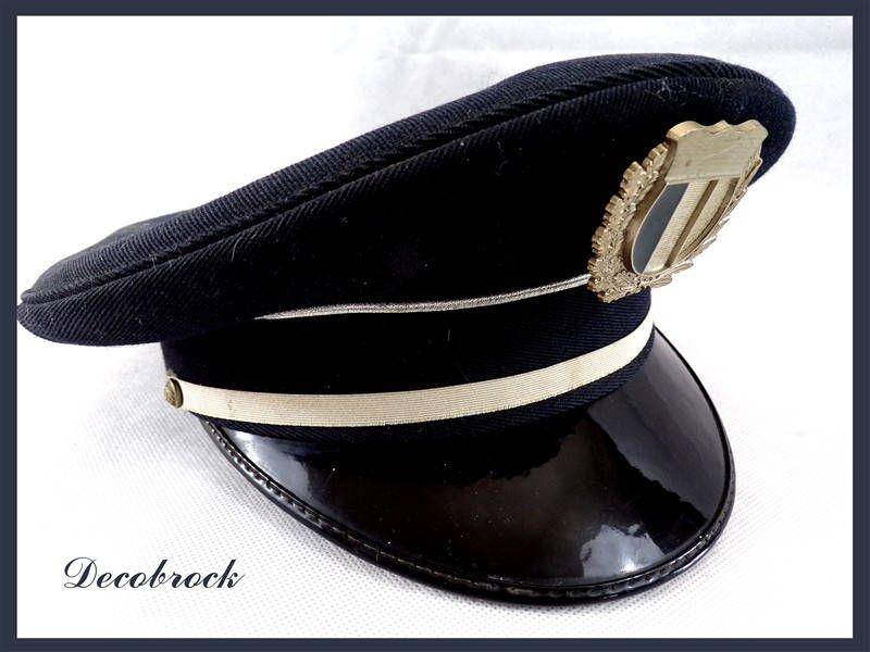 Casquette Kepi Vintage Militaire Gendarmerie Bidermann Etsy Casquette Militaire Bidermann