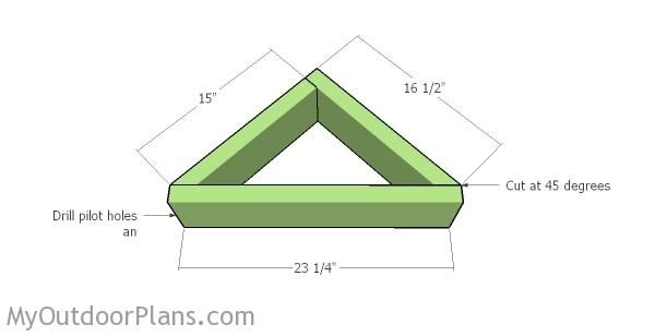 Building the top triangle planter