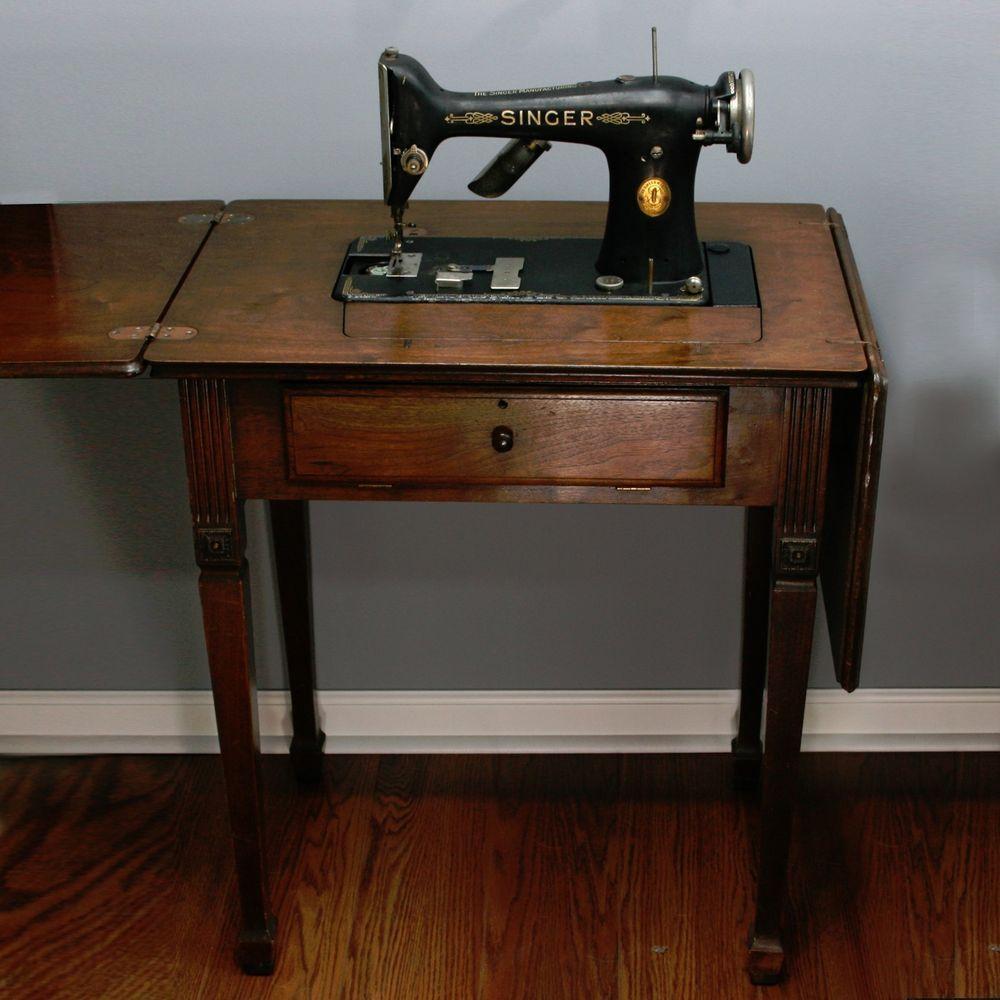 Parts Or Repair Vtg 1926 Singer 101 Electric Sewing Machine Wood