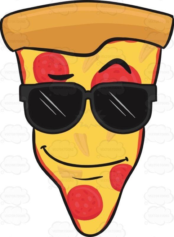 Slice Of Pepperoni Pizza Wearing Sunglasses Emoji