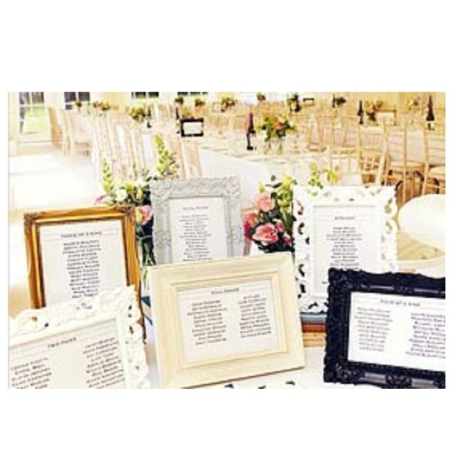 DIY table plan - different picture frame table plan | wedding ideas ...