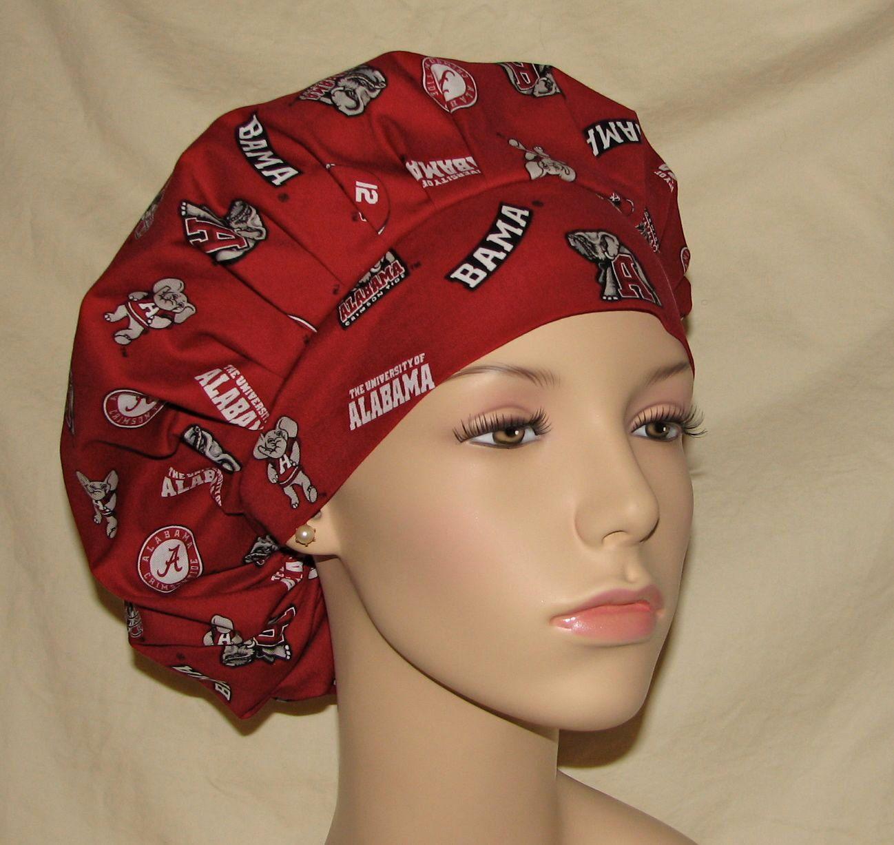... shopping bouffant surgical scrub hat university of alabama crimson tide  big al fabric 277ee c3ea3 82567dab4610