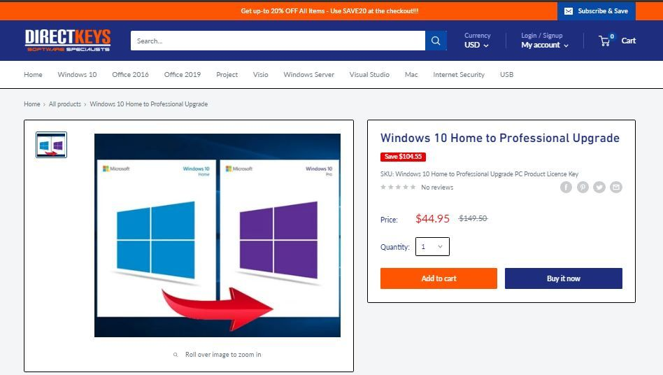 Windows 10 Home To Professional Upgrade In 2020 Windows 10 Windows 10 Operating System Windows