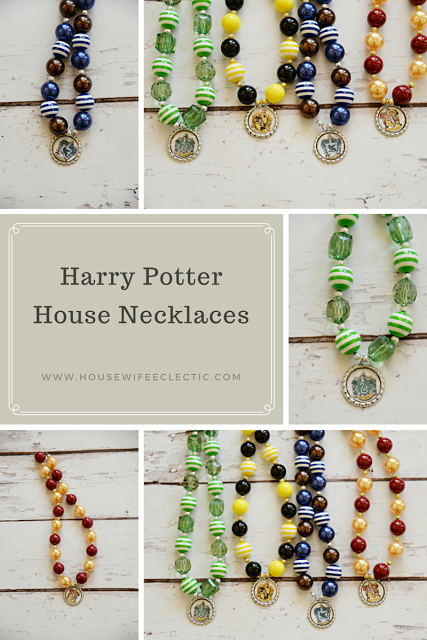 Harry Potter House Necklaces Best Book Crafts More Harry