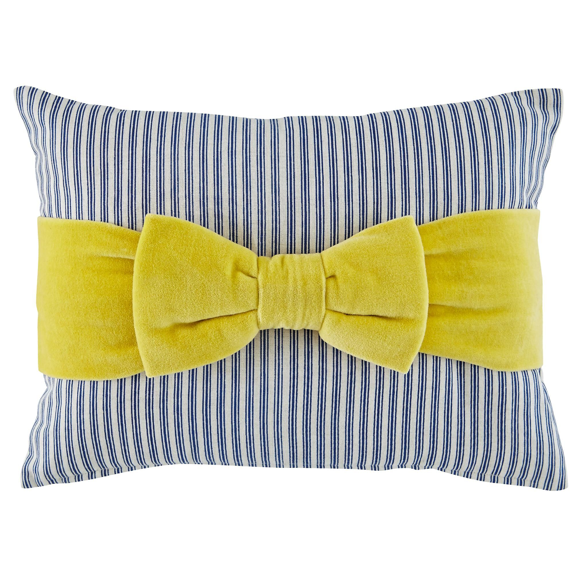 The Land of Nod | Kids Pillows: Striped Ribbon Throw Pillow in New Kids Bedding