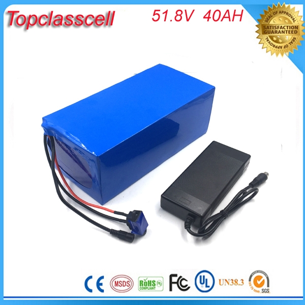 Tozo Q2020 05 Lithium Battery 3 7v 350mah For Q2020 And: 51.8V 40AH Electric Bicycle Battery 52V