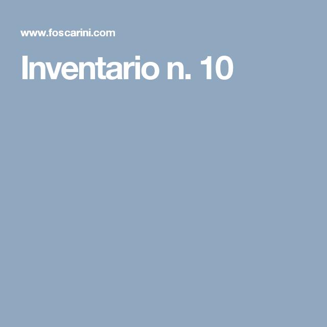 Inventario n. 10
