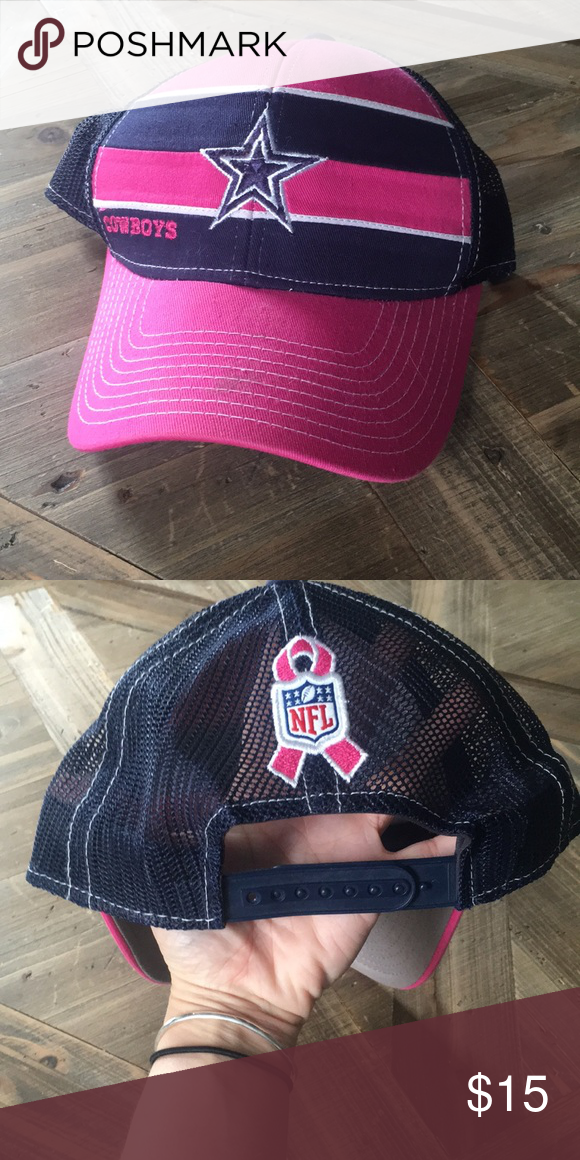 36b9e8ae6 Dallas Cowboys breast cancer awareness snap back Women's SnapBack. Barely  worn NFL Accessories Hats