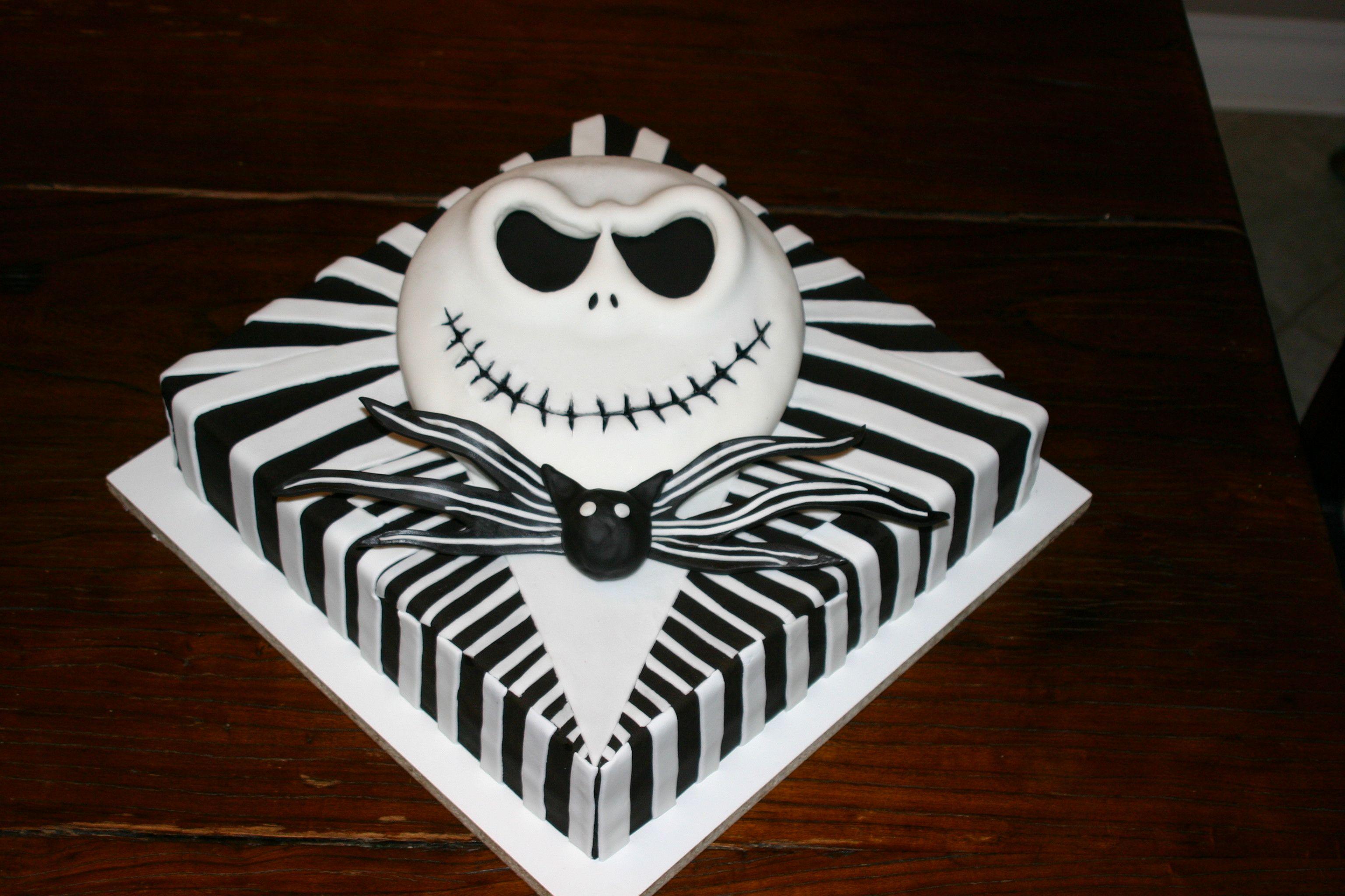 Jack Skellington Birthday Cake With Images Jack Skellington