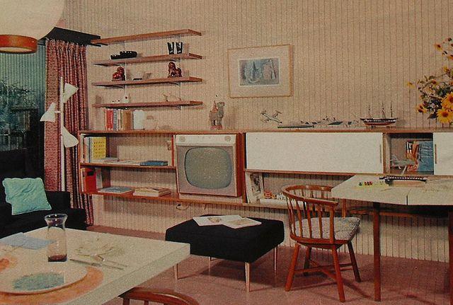 1950s Tv Rec Room Lounge Den Vintage Interior Design Photo Retro Interior Design Retro Interior Vintage Interior Design