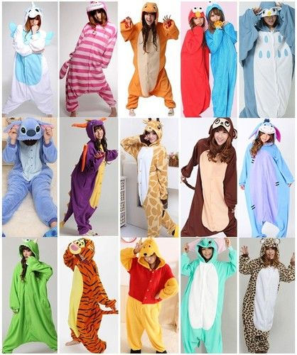 Adult Kigurumi Anime Pajamas!!! Perfect for Halloween costumes!