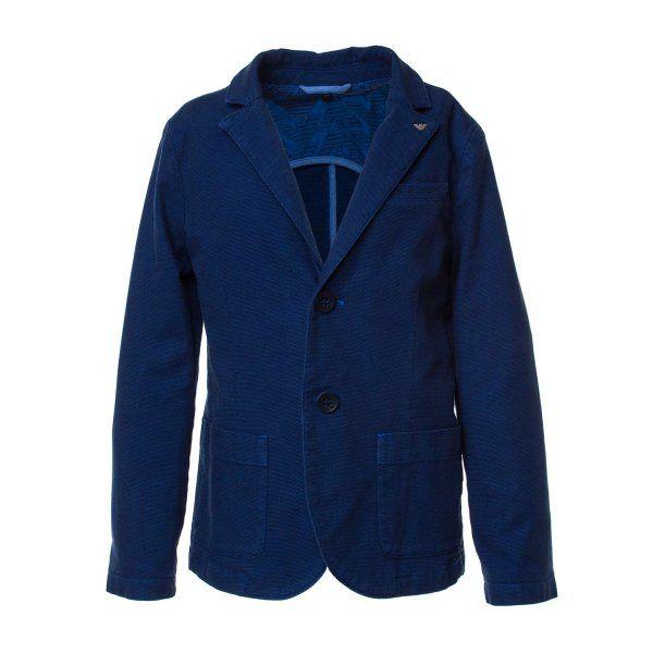 Armani Teen Raffinata In Bambino Blu Blazer Giacca Junior nONwv0m8