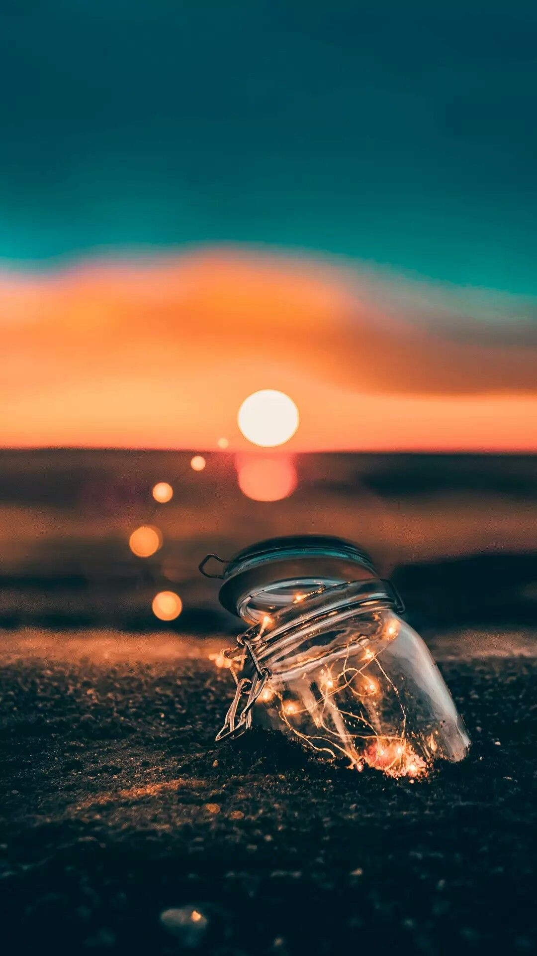 Jar And Light Iphone Wallpaper Photography Cute Wallpaper