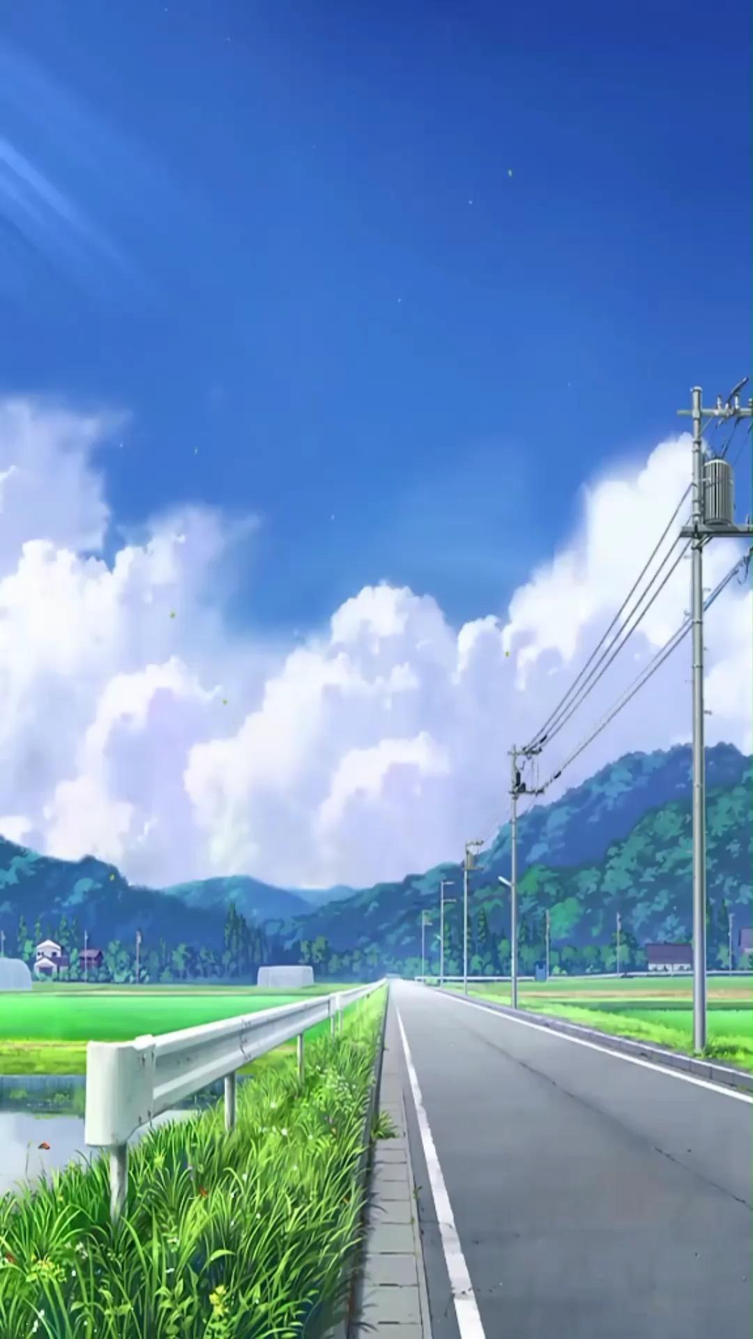 Hình nền động phong cảnh anime tuyệt đẹp