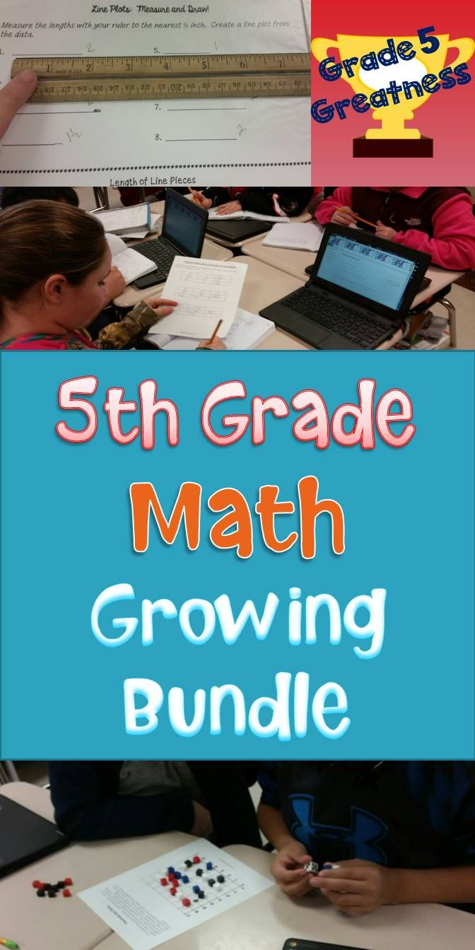 Fifth Grade Math Bundle of Activities and Games   Tic tac toe board ...