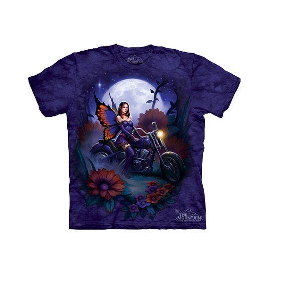 woman's t-shirt biker fairymulticolored by LIBERTYHORSE on Etsy