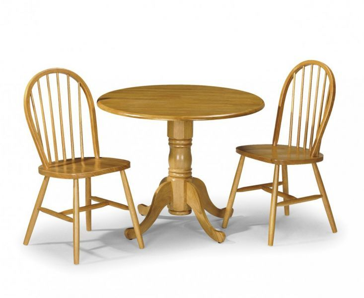 Julian Bowen Dundee Drop Leaf Dining Table With Honey Pine Chairs