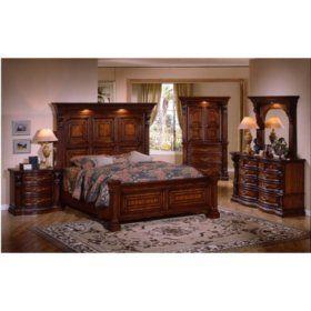Estates Ii King Bedroom Set 5 Pc Wood Bedroom Sets Bedroom