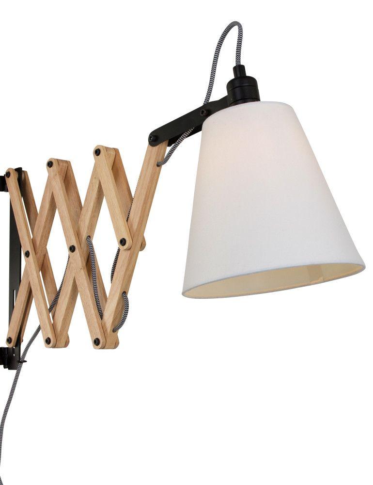 scandinavische leeslamp wandlamp hout slaapkamer ideeà n