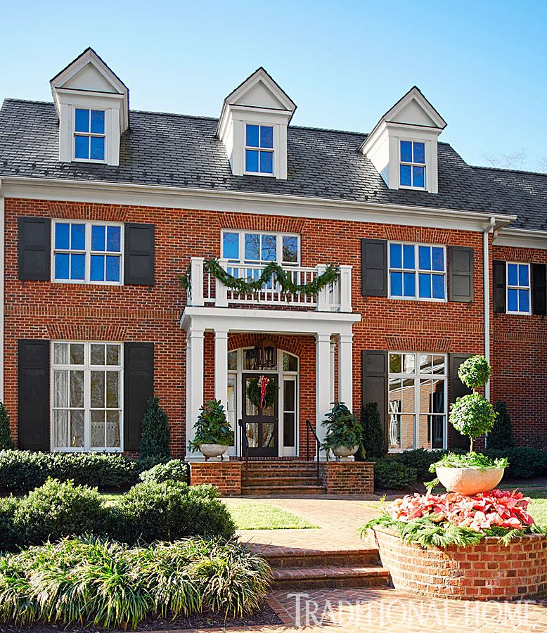 2016 Palladio Awards New Mediterranean Style Traditional: This Georgian-style Brick Home Sits High Atop A Hill