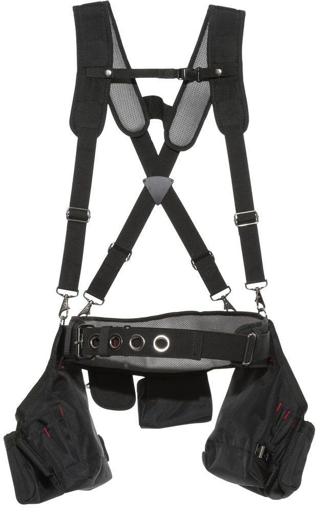 husky carpenter framer tool belt pockets bags suspenders suspension ...