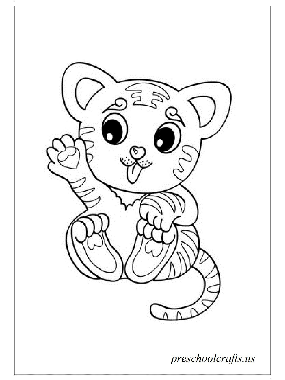 baby tiger coloring pages # 6