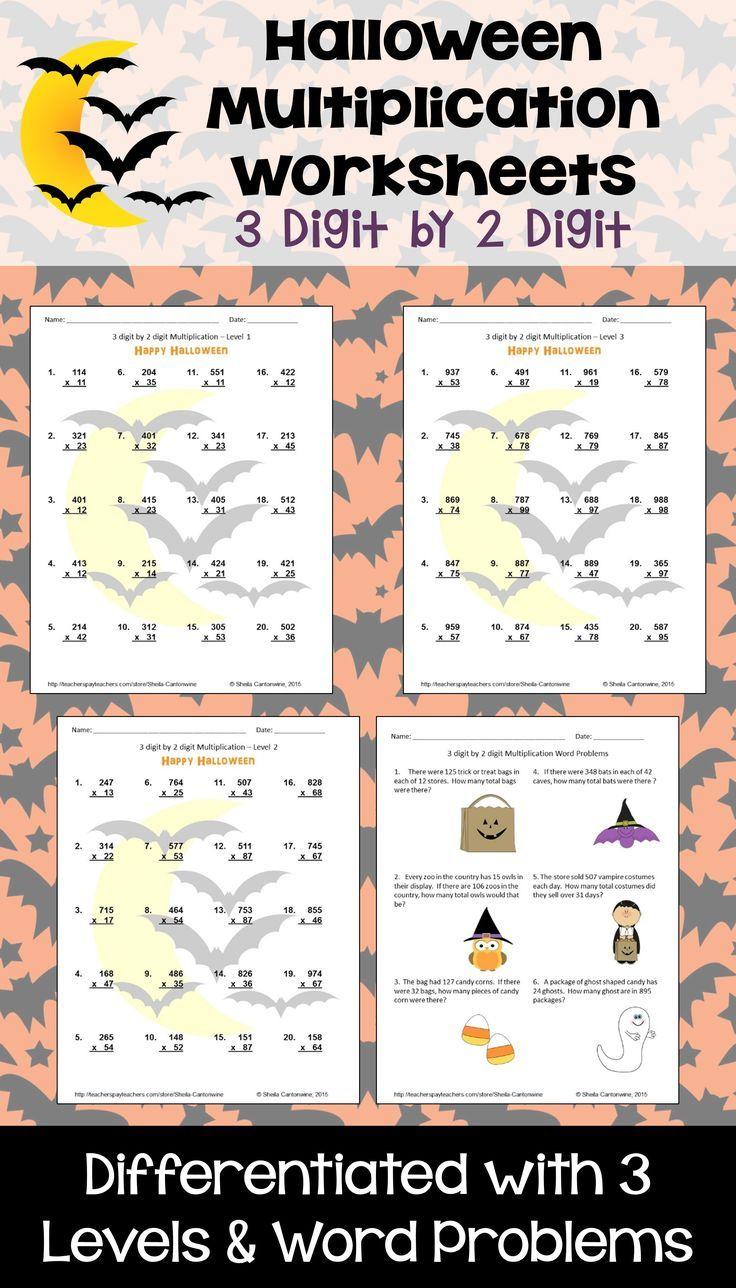 Halloween Math 3 Digit By 2 Digit Multiplication Digital And Printable Halloween Math Halloween Math Activities Common Core Worksheets [ 1288 x 736 Pixel ]