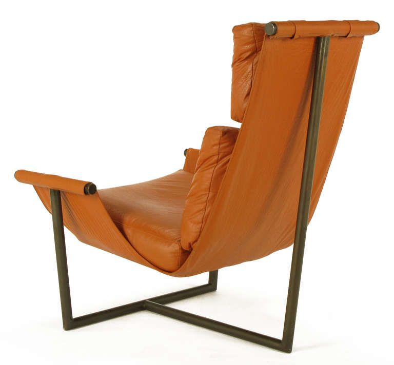 mountain leather products distressed charcoal chair clippedonwhite sling dandy