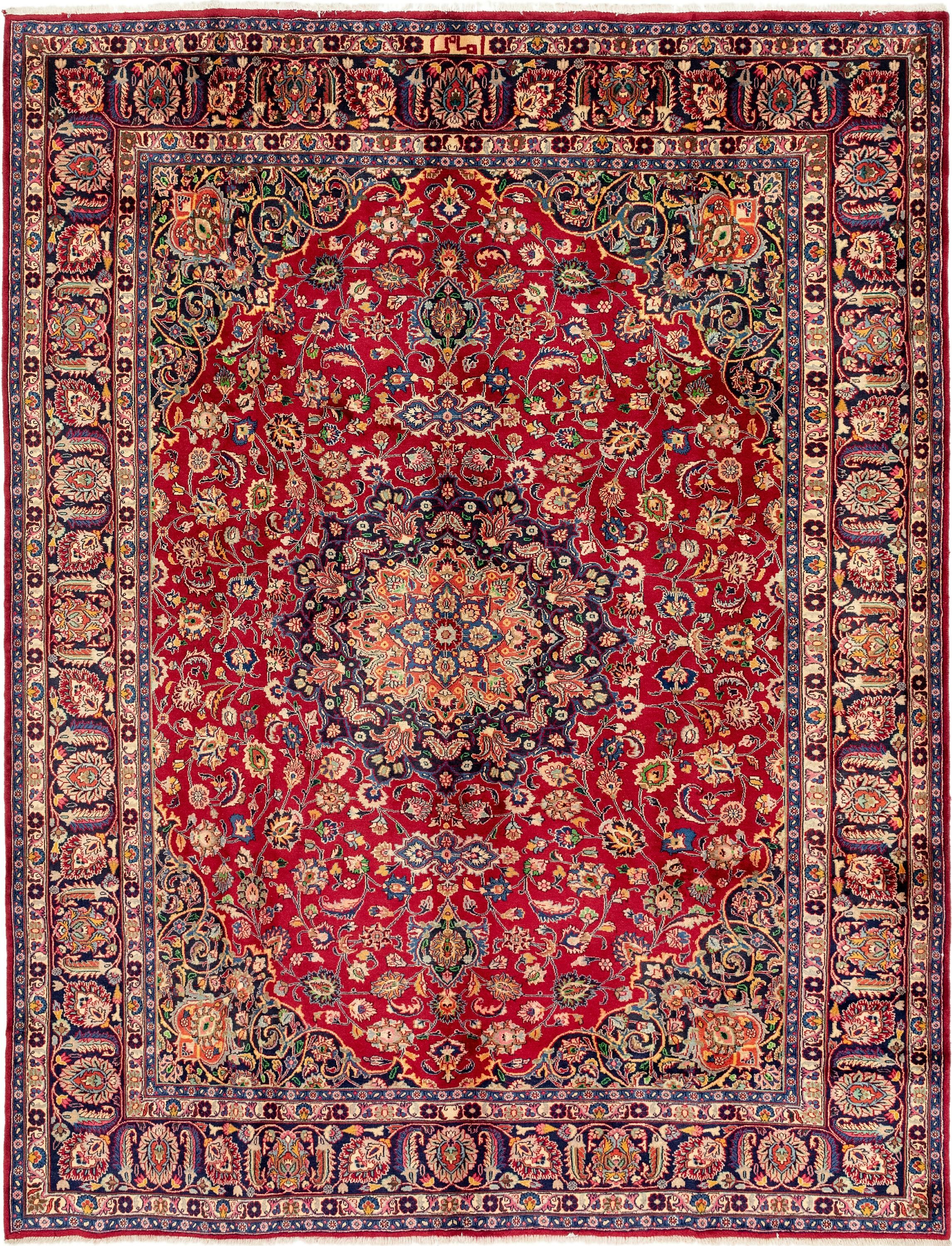Red 9 10 X 12 5 Mashad Persian Rug Handknotted Com Persian