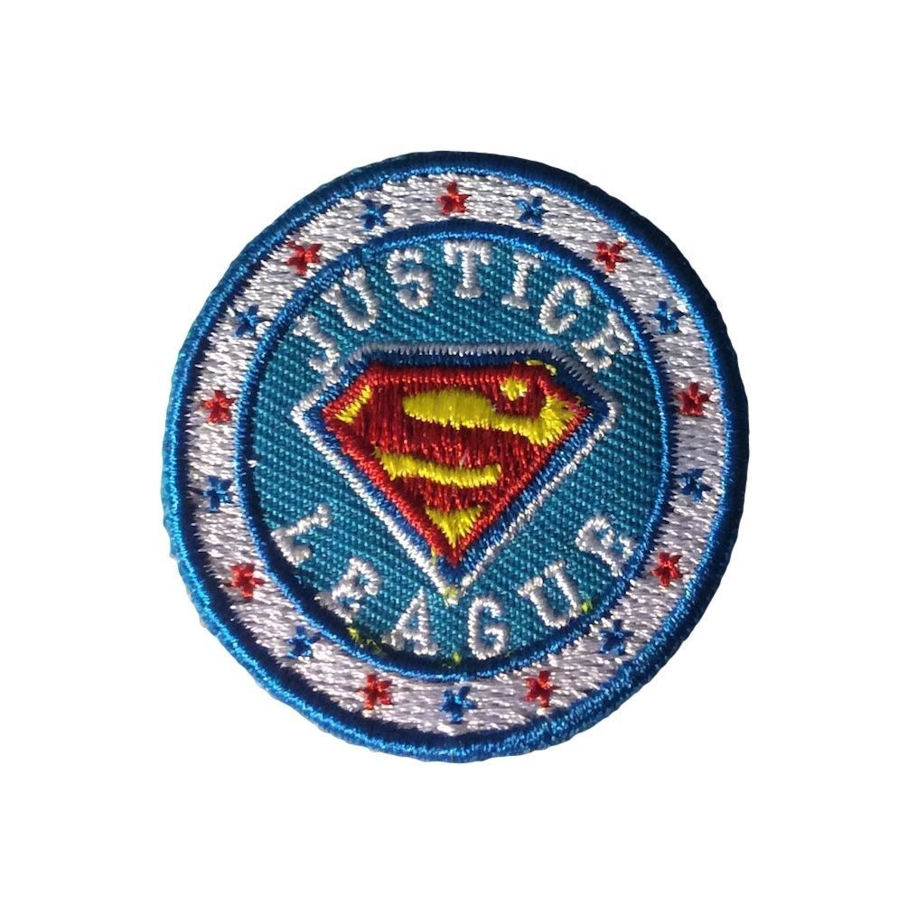 SUPERMAN Shield Logo DC Comics IRON ON EMBROIDERED PATCH NEW