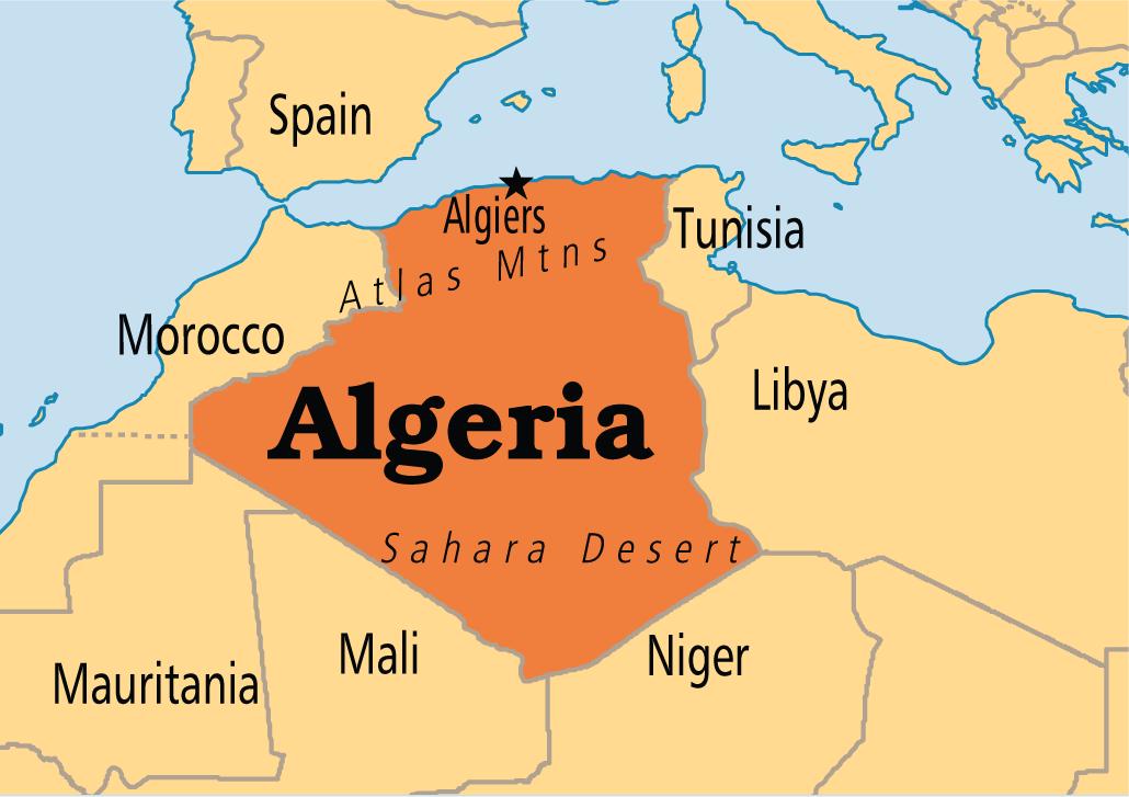 ALGERIA,ALGIERS AFRICA(1) | AFRICA STATES AND CAPITALS | Algeria
