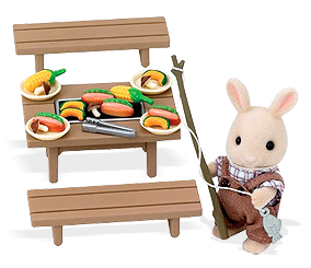 Calico Critter Fish | Home » [Furniture] » Sylvanian Families Outdoor BBQ  Grill Set