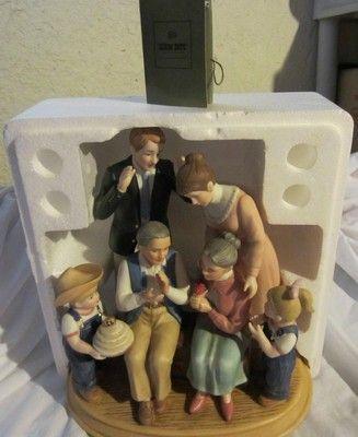 Home interiors denim days 50th anniversary porcelain figurine ebay