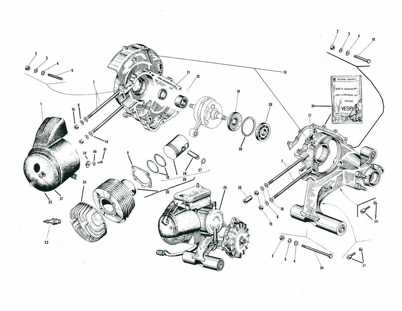 Vespa Engine Mesin