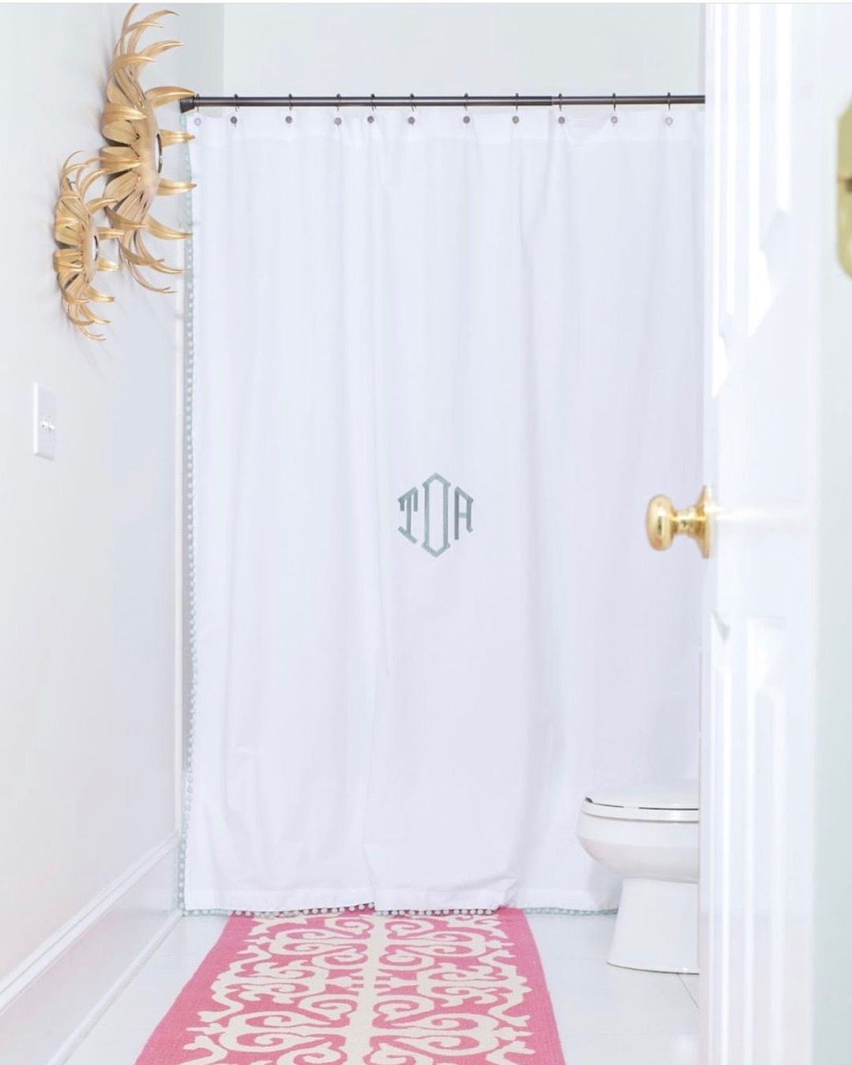 Pin By Sherita On For The Crib Personalized Shower Curtain