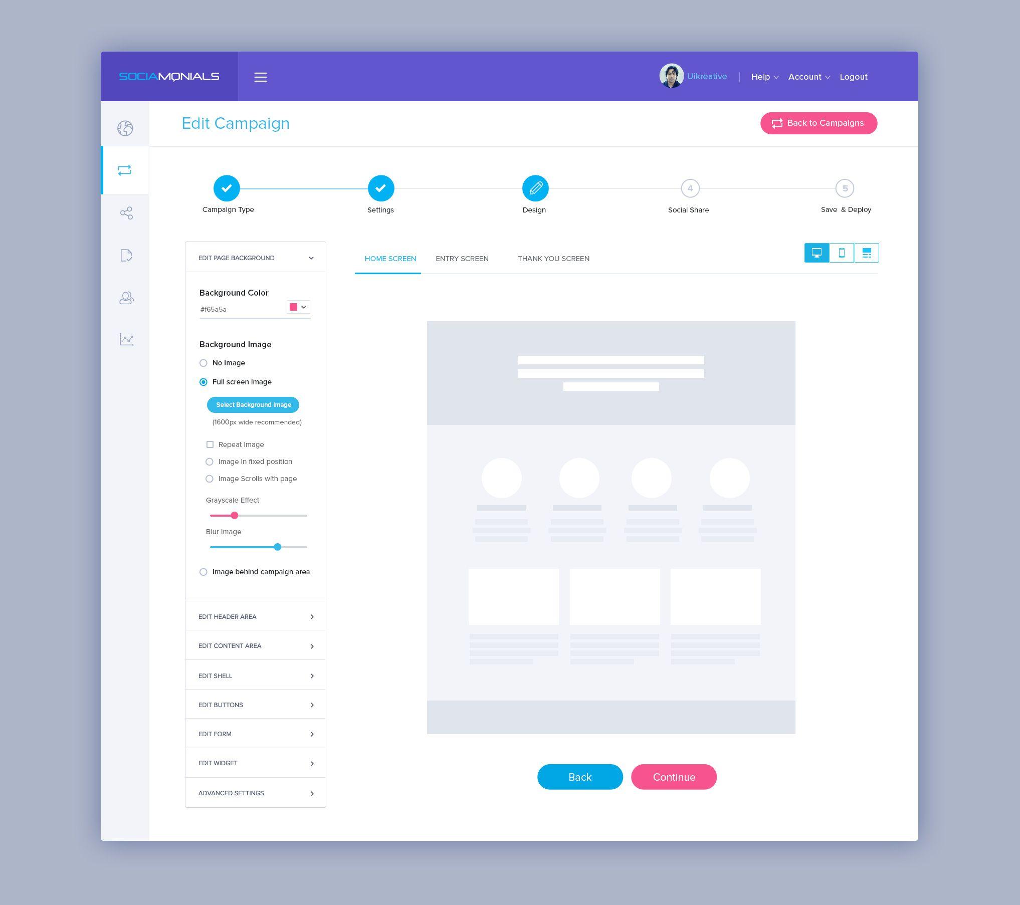 Editcampaign Design Dashboard Design Web Design Projects Navigation Design