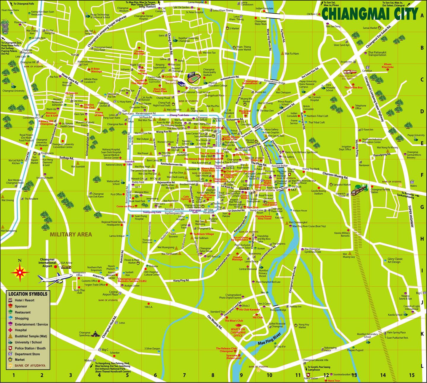 Pin by Wendy Kwok on Maps Pinterest Chiang mai City maps and