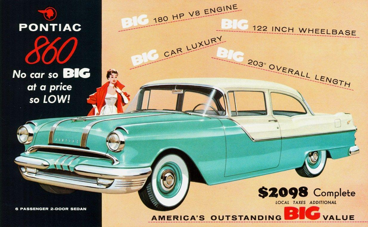 1955 Pontiac 860 Automobile advertising, Pontiac