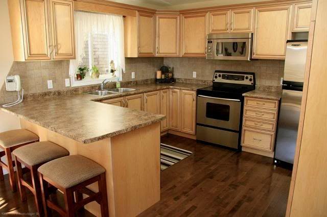 light wood cabinets dark floors - Google Search | Wood ... on Maple Kitchen Cabinets With Dark Wood Floors Dark Countertops  id=89689