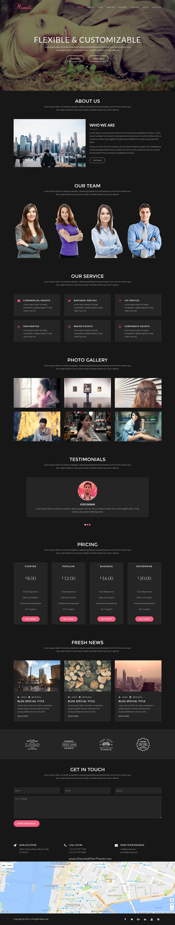 Monali - Responsive HTML5 Template   Clean design, Template and UI ...