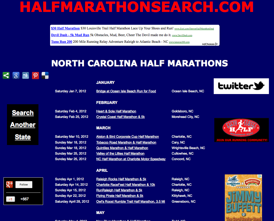 North Carolina half marathons, Half marathon running events in North Carolina, North Carolina half marathon race calendar, Raleigh half marathons, Charlotte half marathons, Kittyhawk half marathons, Outerbanks half marathons, NC half marathons
