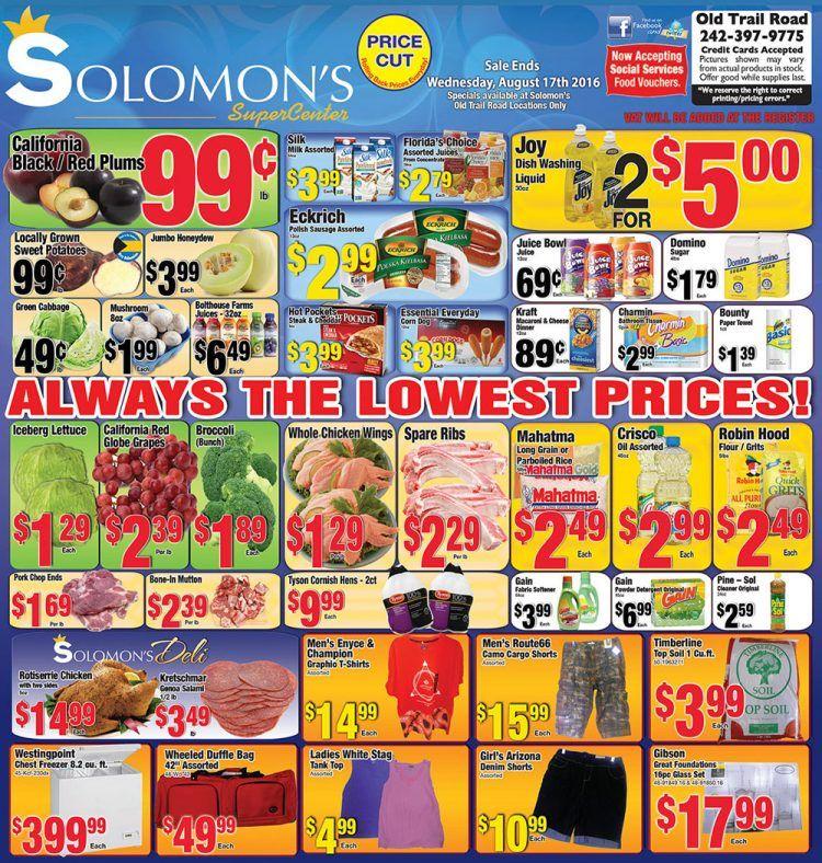 Weekly Specials at Solomon's Super Center Nassau • My ...
