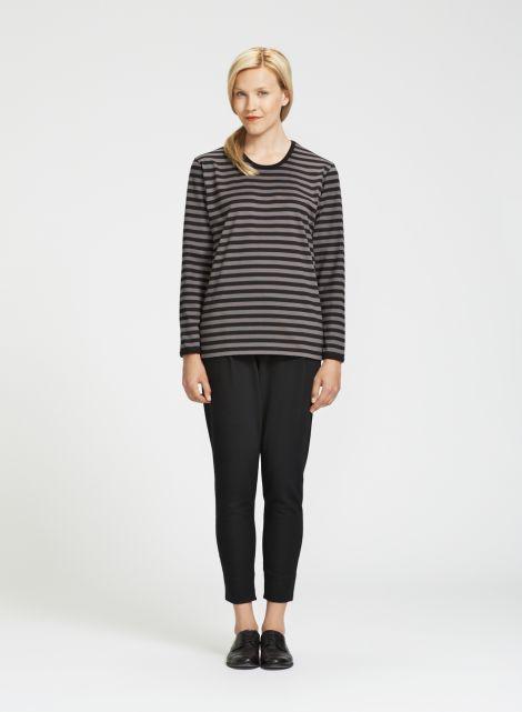 Pitkähiha (musta, harmaa) |Vaatteet, Naiset, Puserot ja t-paidat | Marimekko