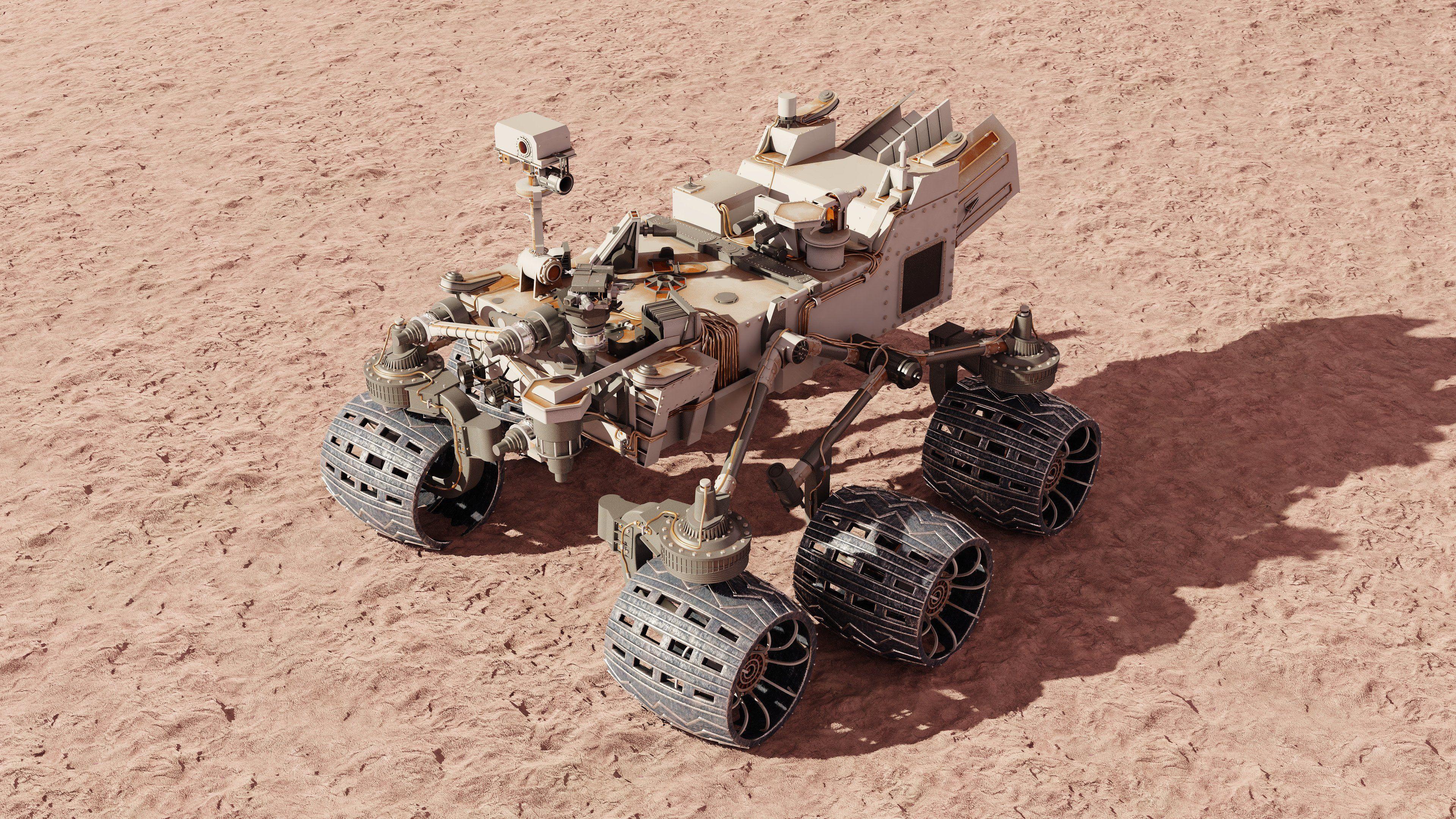 Curiosity Rover Mars 3d Model Vray Curiosity Rover 3d Model Mars Rover