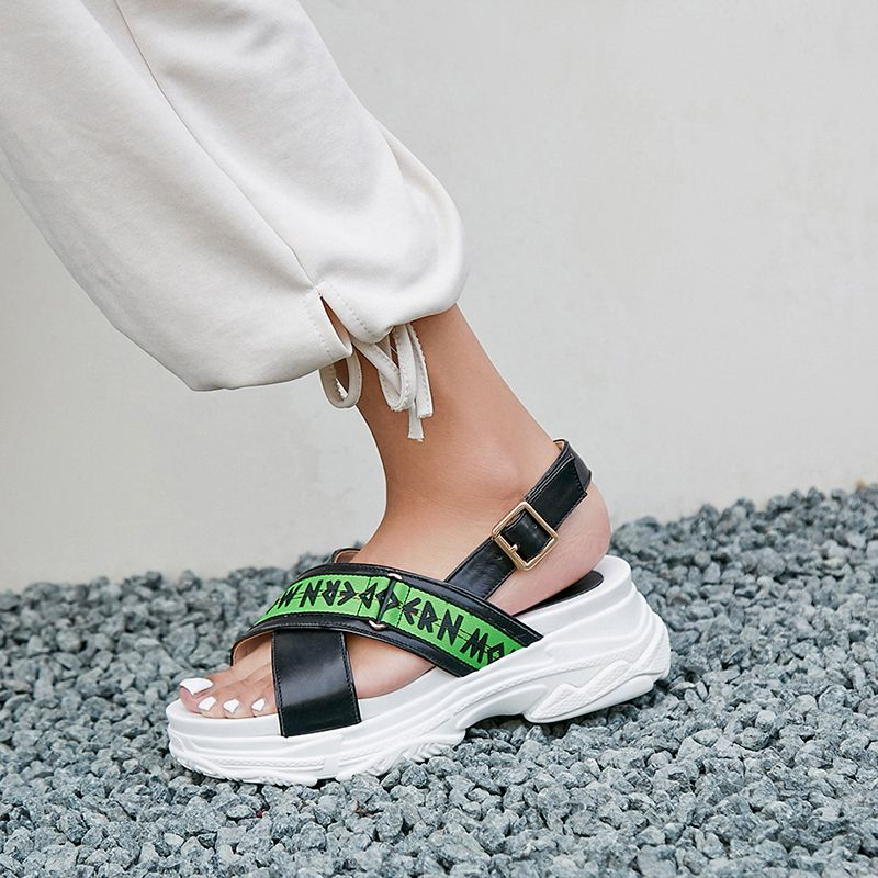 9c133291f94505 ...  new  best  streetstyle  chic  trend  streetfashion  athleisure  sporty   sandals  slides  flatforms  white  trendy  summer  2018  spring  stylish   green