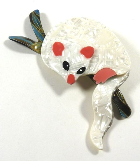 The Lea Stein possum brooch - photographed by Gillian Horsup.