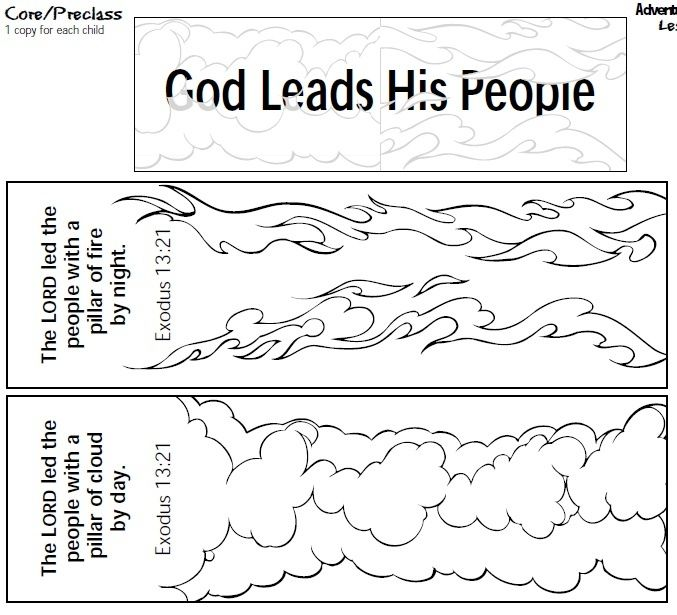 Moses And The Pillar Of Cloud Bible Lessons Moses Bible