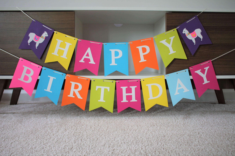 Llama Birthday Banner Fiesta Birthday Banner Llama Birthday Party Fiesta Birthday Party Llama Part Happy Birthday Name Fiesta Birthday Party Llama Birthday